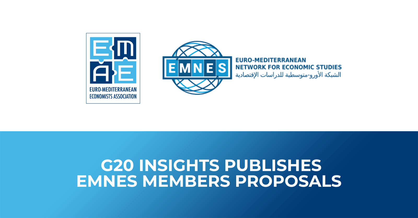 G20 Insights publishes EMNES members proposals