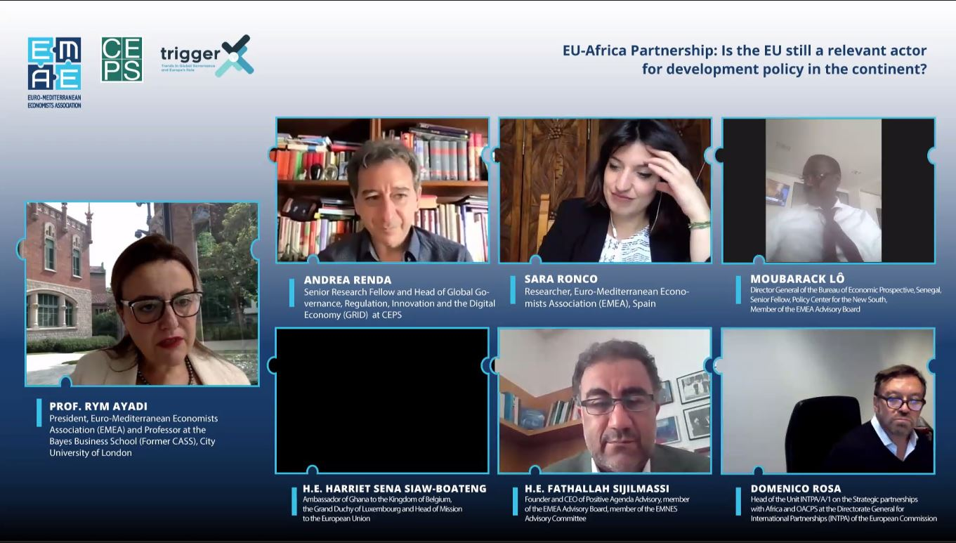 """EMEA Webinar """"EU-Africa Partnership: Is the EU still a relevant actor for development policy in the continent?"""" completed successfully"""