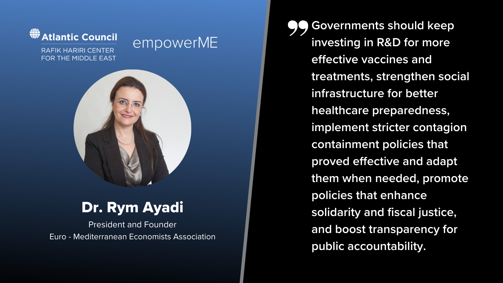 Prof Ayadi featured at the empowerME newsletter published by the Atlantic Council's Rafik Hariri Center for the Middle East